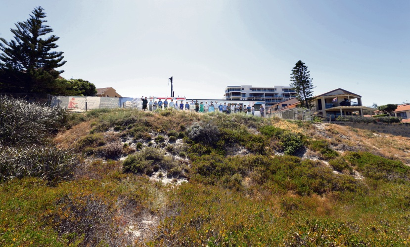 The dunes area in front of the proposed The Beach Shack development. Photo: Martin Kennealey