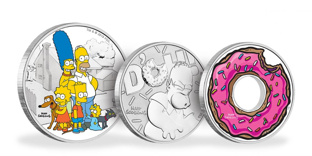 Perth Mint is releasing a series of Simpsons themed coins
