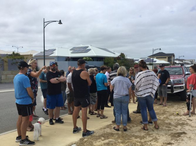 Residents attended a meeting at the Iluka site.