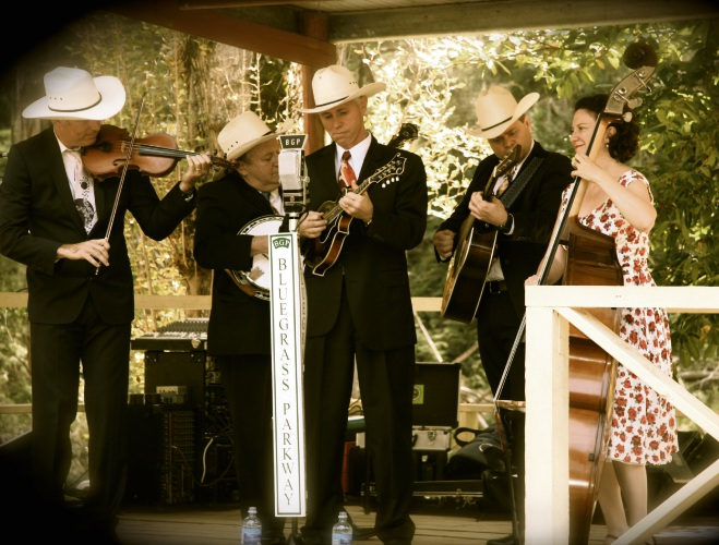 Blue Grass Parkway will perform at the Romancing the Stone Garden this month. Pic: BGP Jamieson