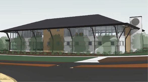 An artist's impression of the medical centre on Blackberry Way in Ashby.