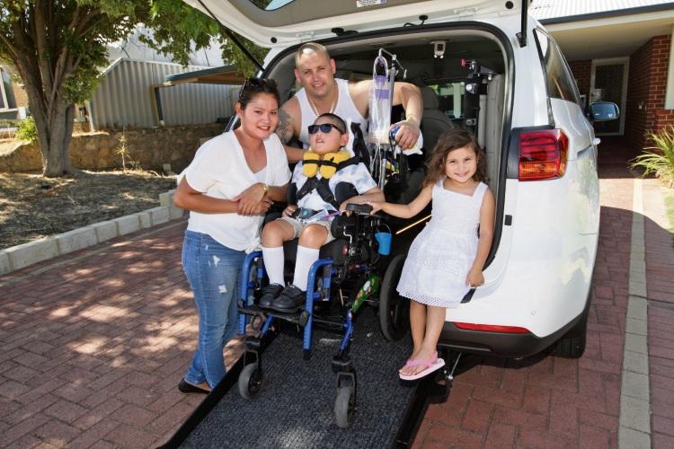 Mandurah community gets vehicle with wheelchair lift for Ziggy