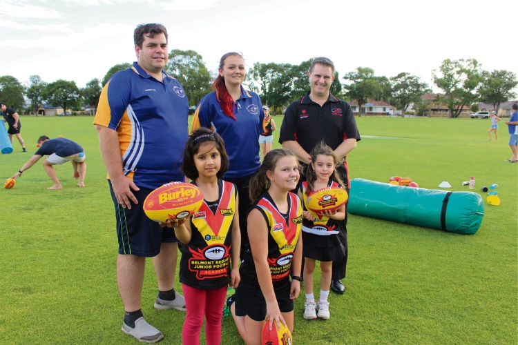 Belmont and Redcliffe footy clubs join for girls clinic