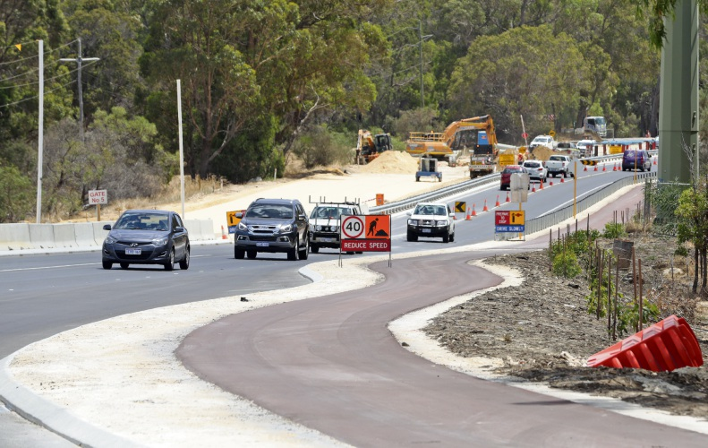 Wanneroo Road widening works. Picture: Martin Kennealey d490642