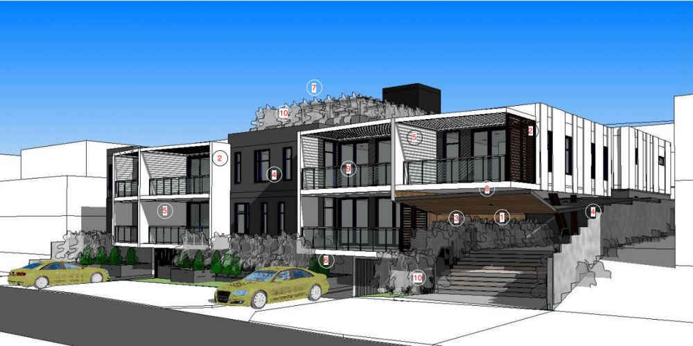 An artist impression of the proposed apartments at 9 and 11 Davallia Road, Duncraig.