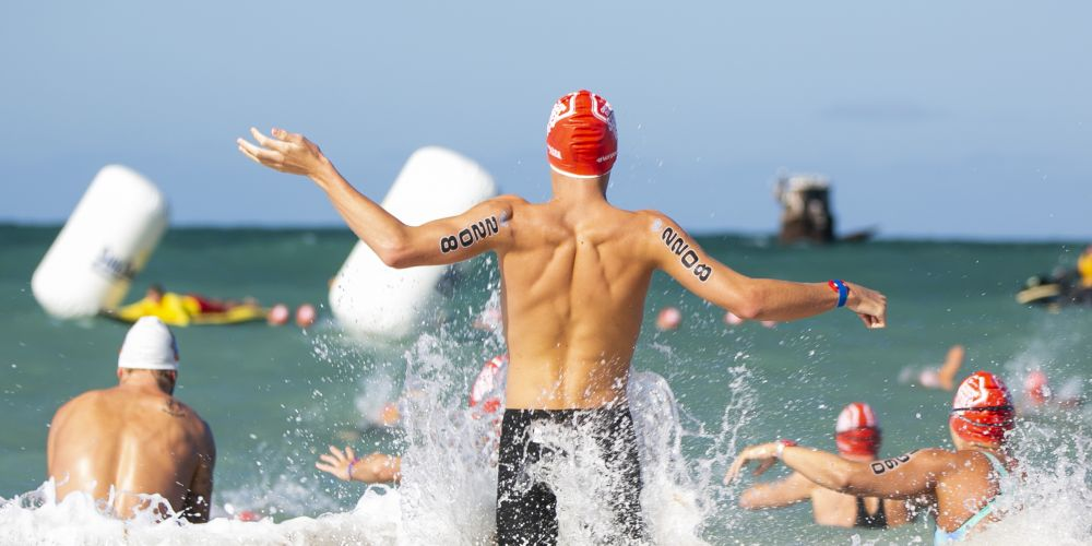 Record numbers at Alkimos round of Swimming WA's Open Water Swimming Series