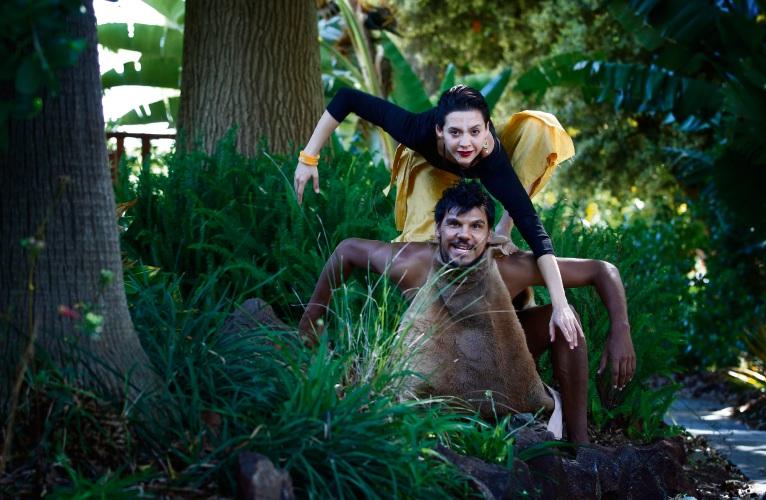 Isha Sharvani (Daksha Sheth Dance Company) and Ian Wilkes (Ochre Contemporary Dance Company). Picture:  Marie Nirme d490620