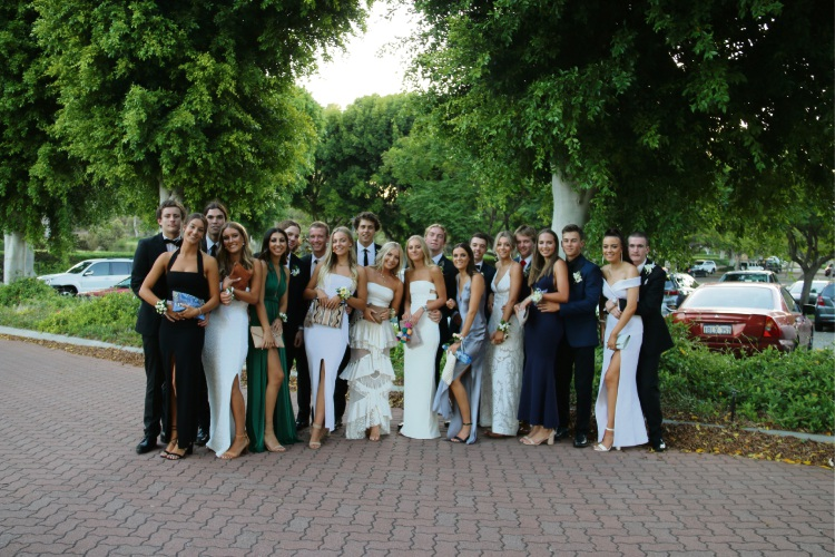 Sacred Heart College students and guests ready for their Year 12 ball.