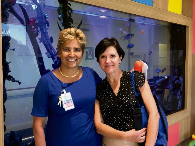 Joondalup Health Campus head of paediatrics Professor Desiree Silva with nature connectedness researcher Dr Tanja Sobko.