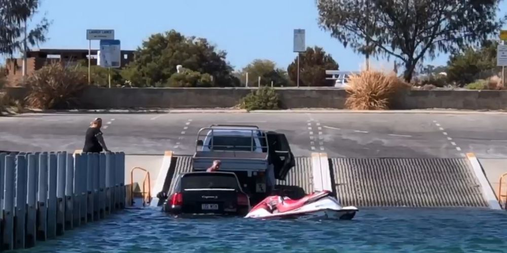 VIDEO: Porsche takes a swim off Woodman Point