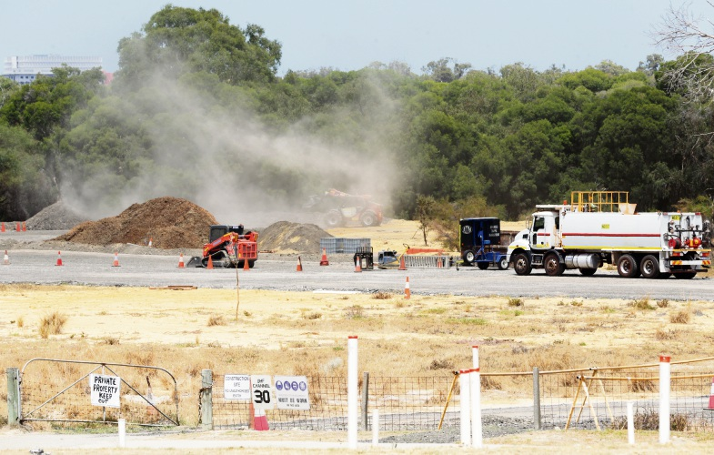 The Wanneroo interchange project. Photo: Martin Kennealey