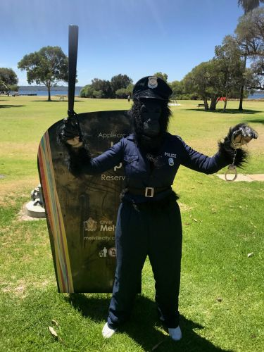 Cop Kong on patrol in Applecross.