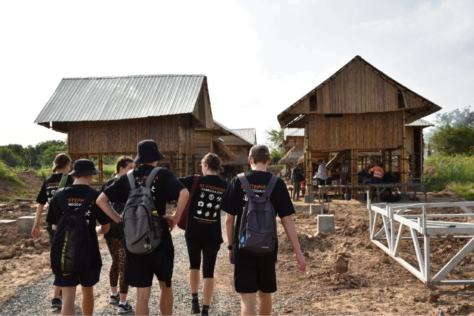 St Stephen's School Year 12 students travelled to Cambodia this year.