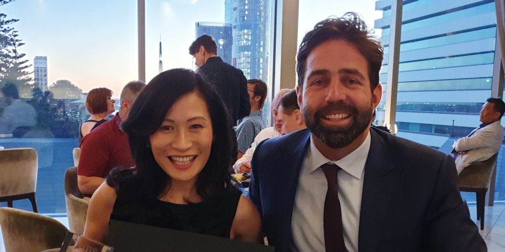Vivien Yap with Ray White Group managing director Dan White.