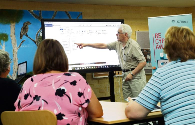 Volunteer tutor Tom Rollo (Sorrento). Photo: Martin Kennealey