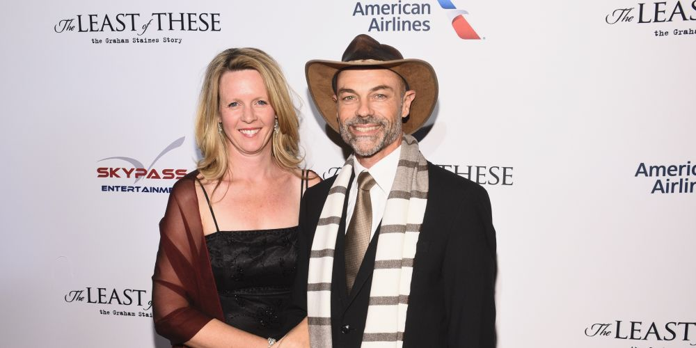 Andrew Matthews with his wife Amy Matthews at the world premiere of The Least of These in NYC on January 23.