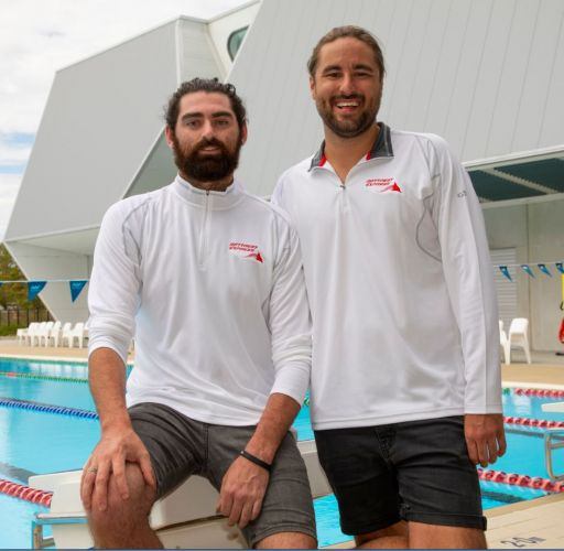 James Julian and Gene Williams will swim from Cottesloe to Rottnest raising money for The Kai Eardley Fund