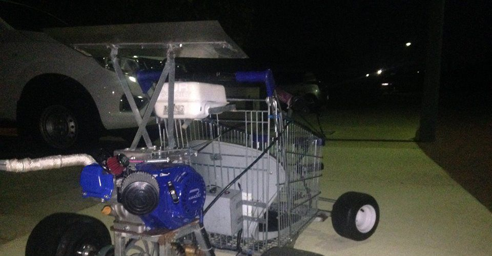 Fully sick shopping trolley go-kart for sale on Facebook