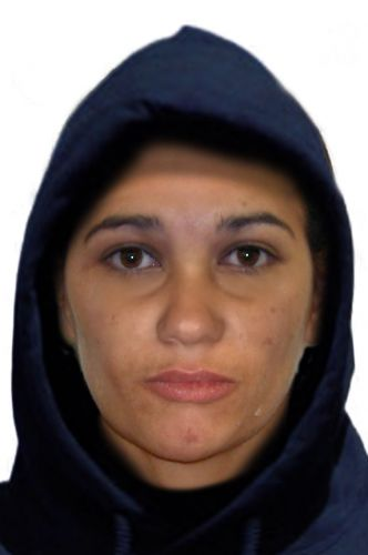 A composite image of a woman police would like to speak to.