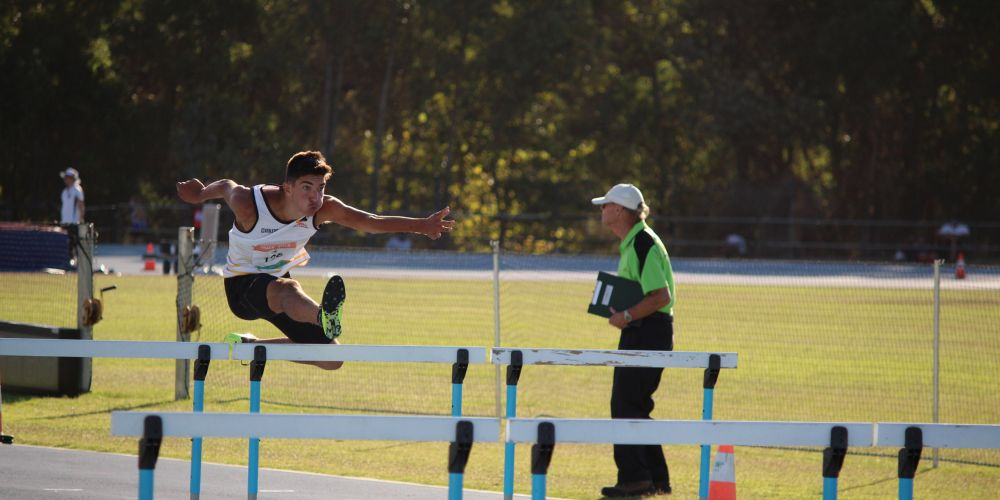 Jacob Hristianopoulos competing at the 2019 Athletics WA State Championships