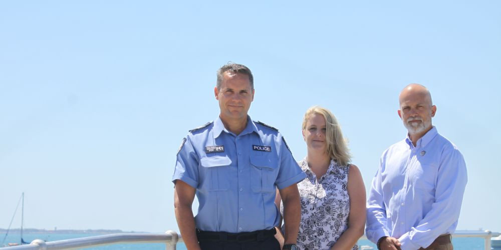Sergeant Paul Trimble, project co-ordinator Chloe Merna and Stephen Batson, from the Health Department.