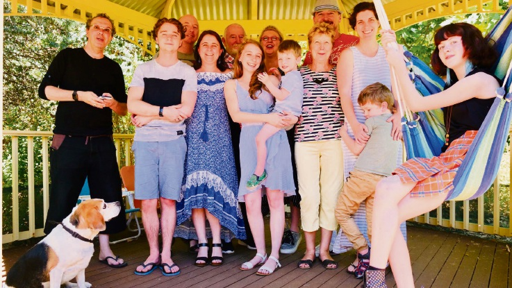 Angi McCluskey and her family. Photo: supplied