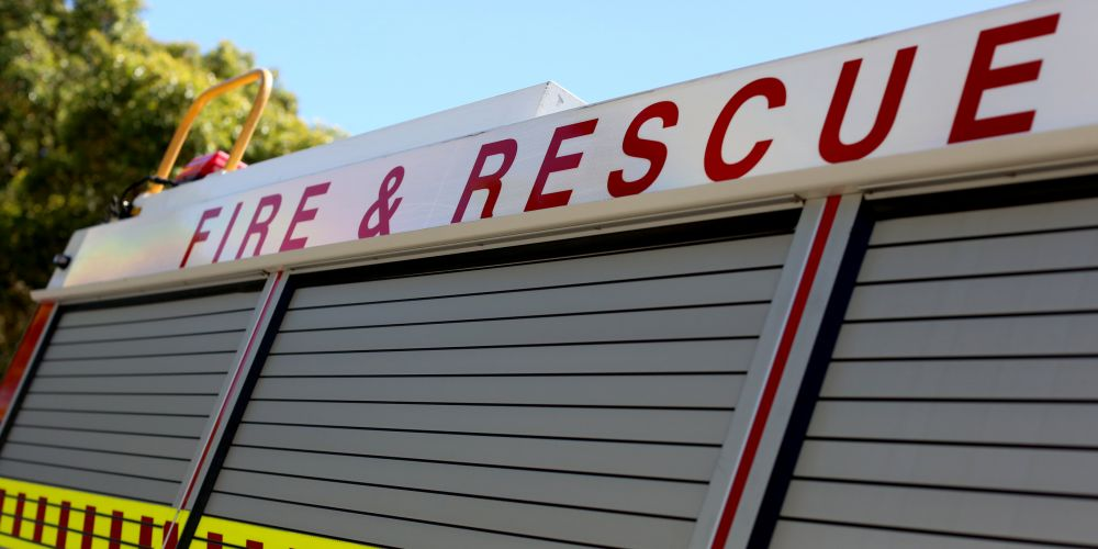 Emergency Services File. Stock image.
