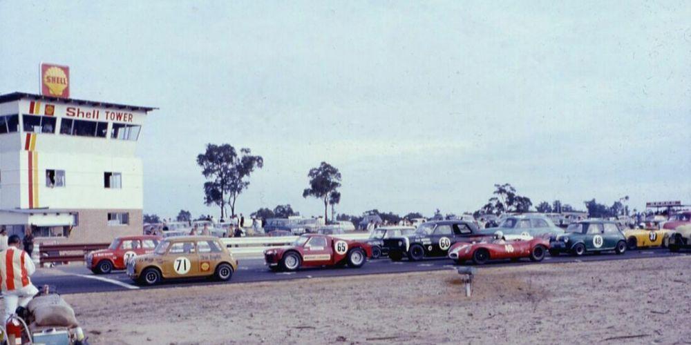 Wanneroo Raceway starting line. Picture: Ken Devine.
