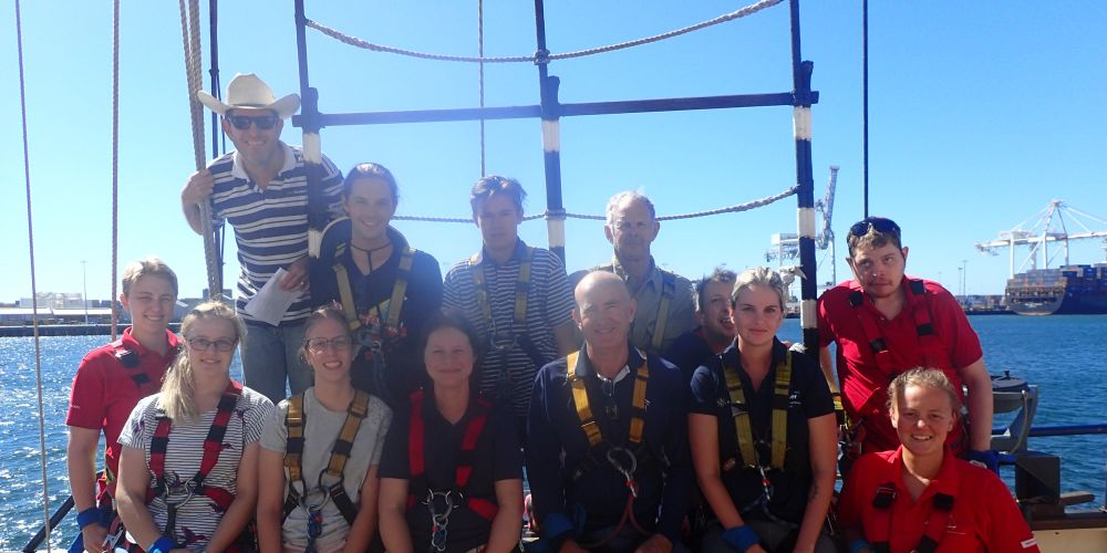 Chloe Hutchinson with fellow participants and Leeuwin Challenge Watch leaders