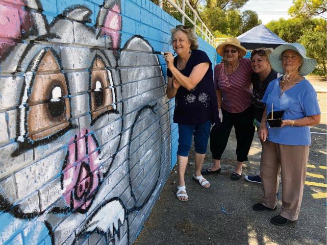 Nature theme for Frank Konecky Community Centre mural