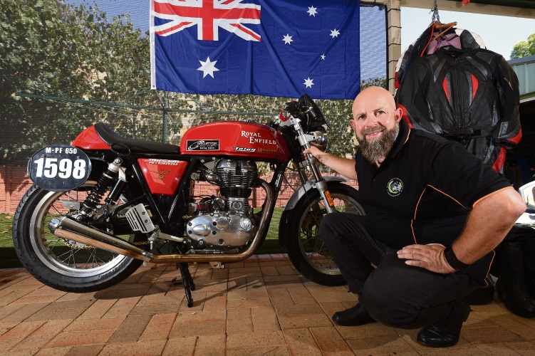 Bull Creek resident Michael Stuart is looking to set an Australian speed record on his motorcycle. Picture: Jon Hewson