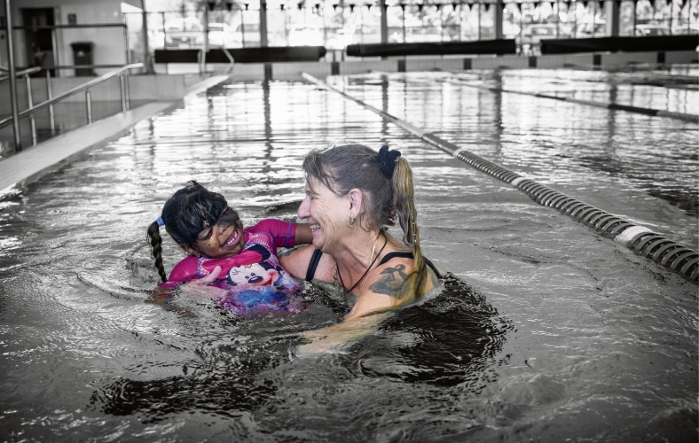 The State Disability Plan aims to change the conversation around disability. Symerien (3), pictured with her foster mother Sharyn, has high level disability-related support needs.