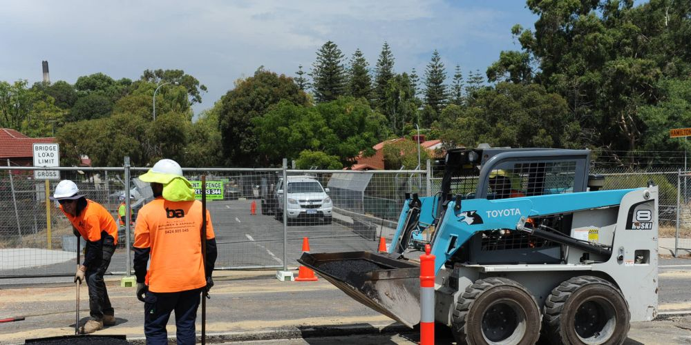 Road works in preparation for replacing the now-closed Hamilton Road bridge this week.