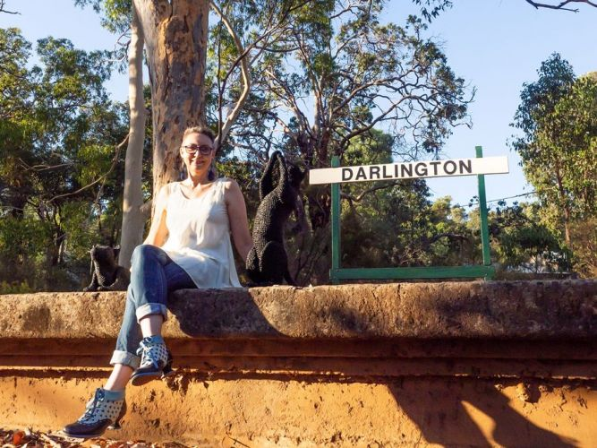 Kalamunda artist Mikaela Castledine will be judging this year's Sculpture on the Scarp at the Darlington Railway Station reserve. Picture: Evalyn Photography.