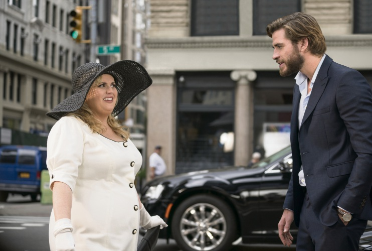 Rebel Wilson and Liam Hemsworth in Isn't It Romantic.