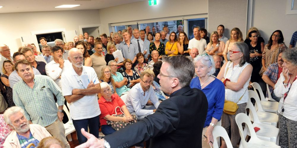 Cottesloe's annual electors meeting got rowdy