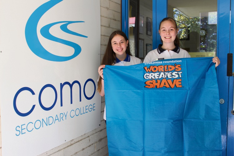 Sisters Holly (16) and Amberly Lynch (14) will be shaving their head for World's Greatest Shave at Como Secondary College.