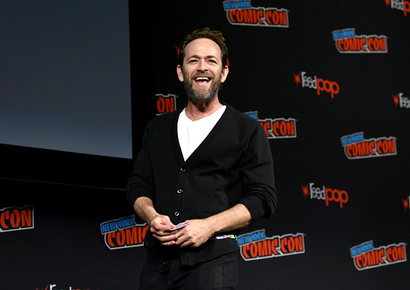 Luke Perry speaks onstage during New York Comic Con. Picture: Andrew Toth/Getty Images for New York Comic Con