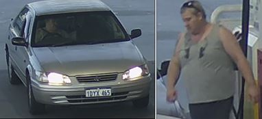 Police have released these CCTV images in the hope of catching Perth's serial drive-off fuel thief.