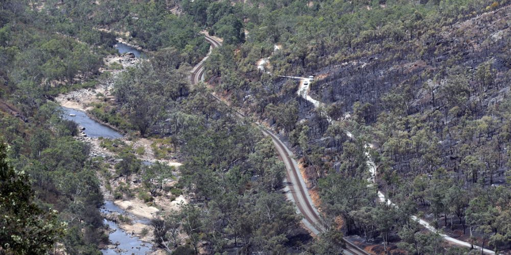 The bushfire burnt about 83ha in Walyunga National Park. Picture: Martin Kennealey