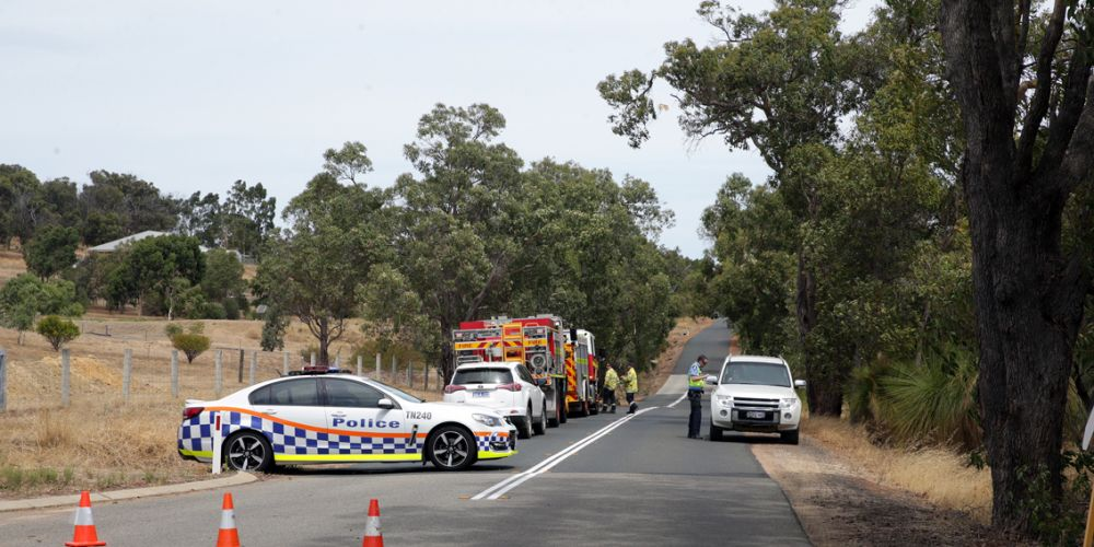 Emergency services attend the Bullsbrook fire. Picture: Martin Kennealey