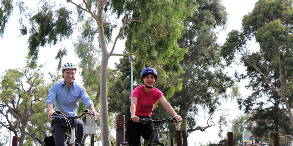 Perth MLA John Carey with City of Vincent mayor Emma Cole