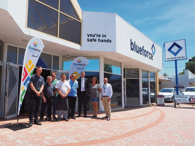 Tuart Hill business owners with Stirling MHR Michael Keenan at the launch of the CCTV system