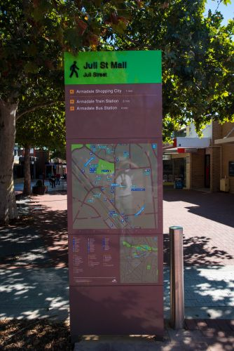 One of the new wayfinding signs.