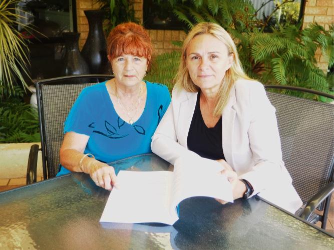 Wanneroo MLA Sabine Winton, right, with Elisabeth.