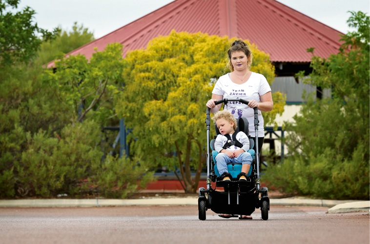 Shaileen Roberts of Midland with her son Zavier Elward (2).  Picture: David Baylis www.communitypix.com.au   d491364