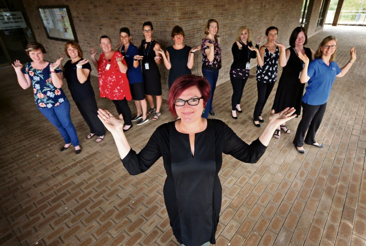 Mundaring shire staff strike a pose for International Women's Day