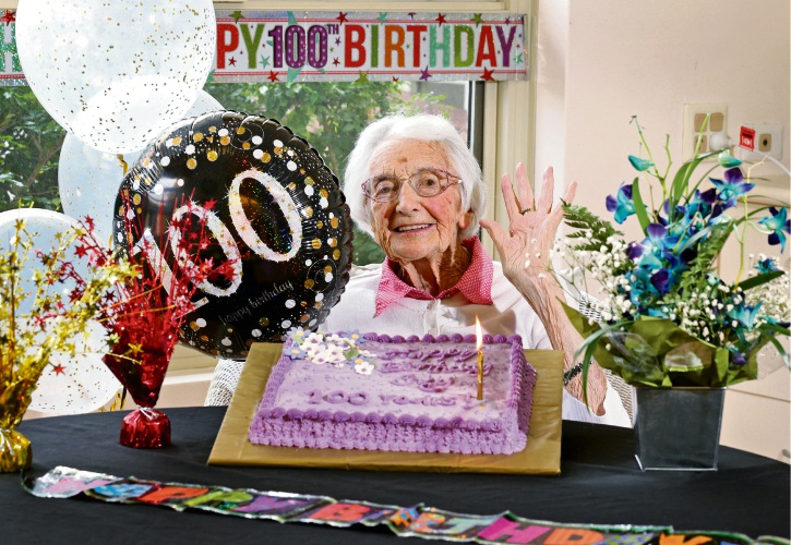 Mercy Place Lathlain resident Ivy Ballantine will celebrate her 100th birthday on March 16. Picture: David Baylis d491326