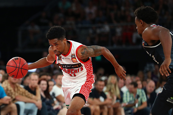 The Bryce Cotton-Casper Ware match-up will be a delight to fans at RAC Arena tonight. Picture: Getty Images