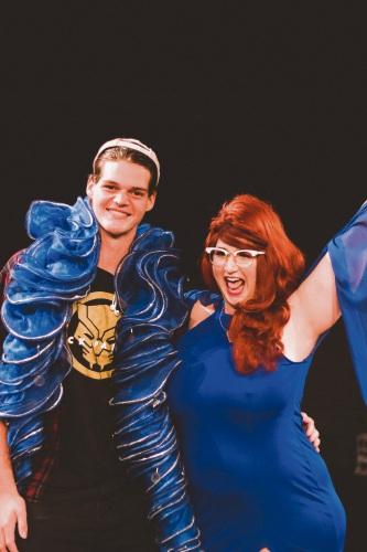 lass Clowns WA winner Sam Allison with Perth comedian Famous Sharron. Picture: Sean Smith